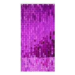 Purple Background Scrapbooking Paper Shower Curtain 36  x 72  (Stall)