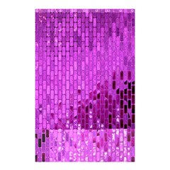 Purple Background Scrapbooking Paper Shower Curtain 48  X 72  (small)