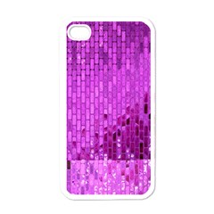 Purple Background Scrapbooking Paper Apple Iphone 4 Case (white)