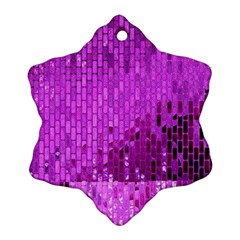 Purple Background Scrapbooking Paper Ornament (Snowflake)