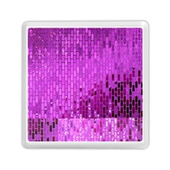 Purple Background Scrapbooking Paper Memory Card Reader (square)