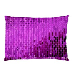 Purple Background Scrapbooking Paper Pillow Case (two Sides)