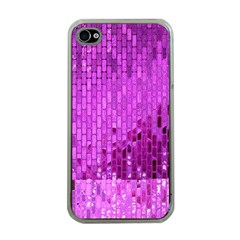 Purple Background Scrapbooking Paper Apple Iphone 4 Case (clear)