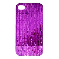 Purple Background Scrapbooking Paper Apple Iphone 4/4s Premium Hardshell Case