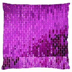 Purple Background Scrapbooking Paper Large Cushion Case (one Side)