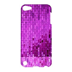 Purple Background Scrapbooking Paper Apple Ipod Touch 5 Hardshell Case