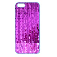 Purple Background Scrapbooking Paper Apple Seamless Iphone 5 Case (color)