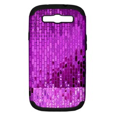 Purple Background Scrapbooking Paper Samsung Galaxy S Iii Hardshell Case (pc+silicone)
