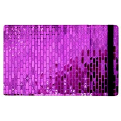 Purple Background Scrapbooking Paper Apple Ipad 3/4 Flip Case