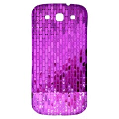Purple Background Scrapbooking Paper Samsung Galaxy S3 S Iii Classic Hardshell Back Case