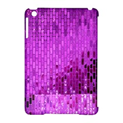 Purple Background Scrapbooking Paper Apple Ipad Mini Hardshell Case (compatible With Smart Cover)