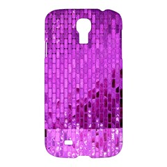 Purple Background Scrapbooking Paper Samsung Galaxy S4 I9500/i9505 Hardshell Case