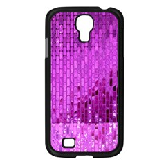 Purple Background Scrapbooking Paper Samsung Galaxy S4 I9500/ I9505 Case (Black)