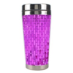 Purple Background Scrapbooking Paper Stainless Steel Travel Tumblers