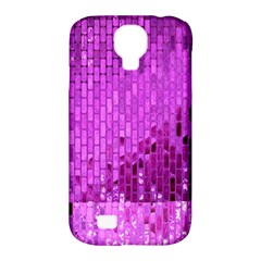 Purple Background Scrapbooking Paper Samsung Galaxy S4 Classic Hardshell Case (pc+silicone)