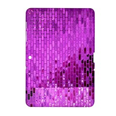 Purple Background Scrapbooking Paper Samsung Galaxy Tab 2 (10 1 ) P5100 Hardshell Case