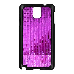 Purple Background Scrapbooking Paper Samsung Galaxy Note 3 N9005 Case (black)