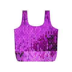 Purple Background Scrapbooking Paper Full Print Recycle Bags (s)