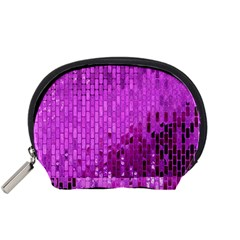 Purple Background Scrapbooking Paper Accessory Pouches (small)