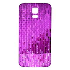 Purple Background Scrapbooking Paper Samsung Galaxy S5 Back Case (white)
