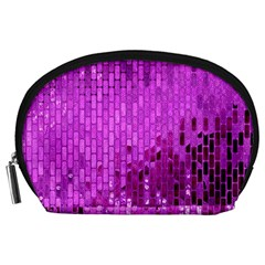 Purple Background Scrapbooking Paper Accessory Pouches (large)