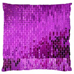 Purple Background Scrapbooking Paper Large Flano Cushion Case (two Sides)