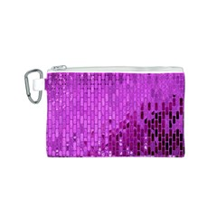 Purple Background Scrapbooking Paper Canvas Cosmetic Bag (s)
