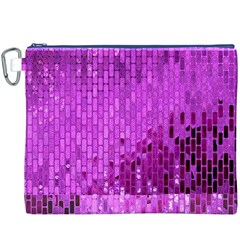 Purple Background Scrapbooking Paper Canvas Cosmetic Bag (xxxl)