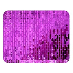 Purple Background Scrapbooking Paper Double Sided Flano Blanket (Large)