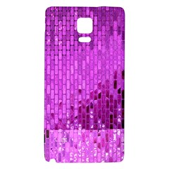 Purple Background Scrapbooking Paper Galaxy Note 4 Back Case