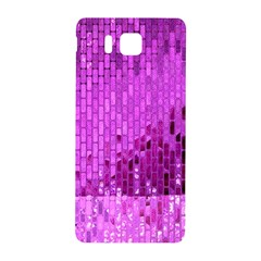 Purple Background Scrapbooking Paper Samsung Galaxy Alpha Hardshell Back Case