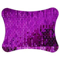 Purple Background Scrapbooking Paper Jigsaw Puzzle Photo Stand (bow)