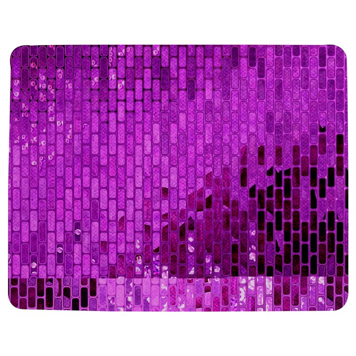 Purple Background Scrapbooking Paper Jigsaw Puzzle Photo Stand (Rectangular)