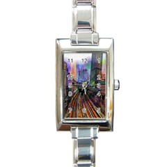Downtown Chicago Rectangle Italian Charm Watch