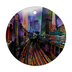 Downtown Chicago Ornament (round)