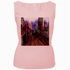 Downtown Chicago Women s Pink Tank Top