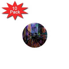 Downtown Chicago 1  Mini Buttons (10 pack)
