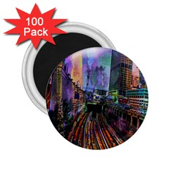 Downtown Chicago 2 25  Magnets (100 Pack)