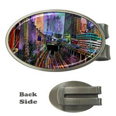 Downtown Chicago Money Clips (oval)