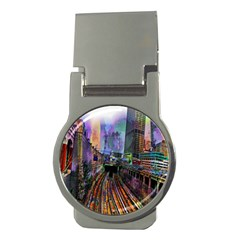 Downtown Chicago Money Clips (round)