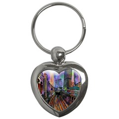 Downtown Chicago Key Chains (Heart)