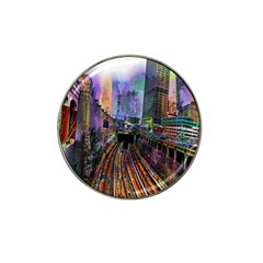 Downtown Chicago Hat Clip Ball Marker (4 Pack)