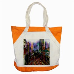 Downtown Chicago Accent Tote Bag