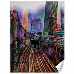 Downtown Chicago Canvas 36  X 48
