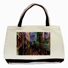Downtown Chicago Basic Tote Bag (two Sides)