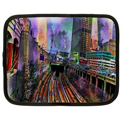 Downtown Chicago Netbook Case (large)