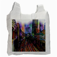 Downtown Chicago Recycle Bag (one Side)