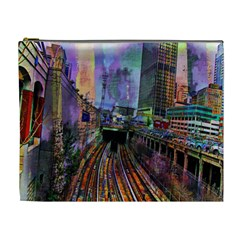 Downtown Chicago Cosmetic Bag (xl)