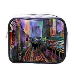 Downtown Chicago Mini Toiletries Bags