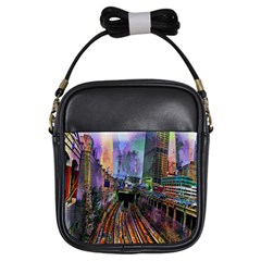 Downtown Chicago Girls Sling Bags